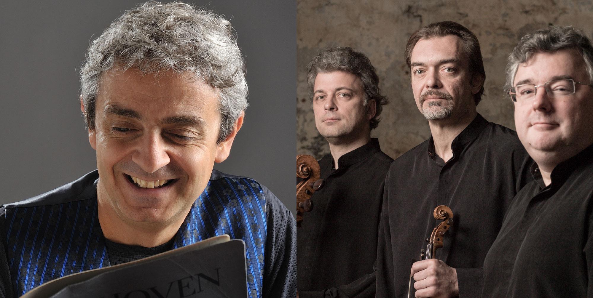 Trio Wanderer Vincent Coq, piano Jean-Marc Phillips-Varjabédian, violon Raphaël Pidoux, violoncelle & Pascal Moraguès, clarinette